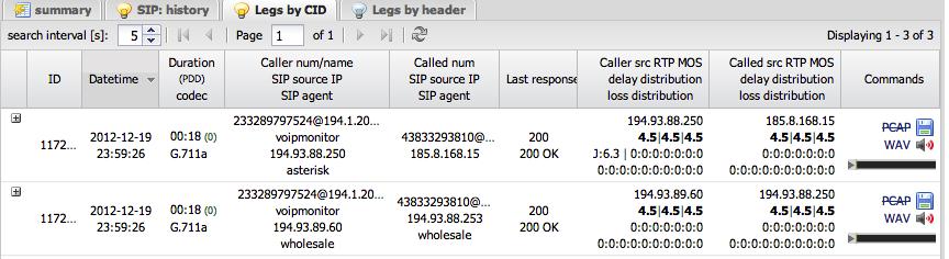 VoIPmonitor - VoIP monitoring software - quality analyzer - WAV recorder